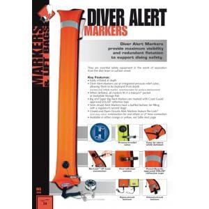 Halcyon Big Dive Alert marker 4,5´ (1,4 m) long, CC, Orange or Yellow 2